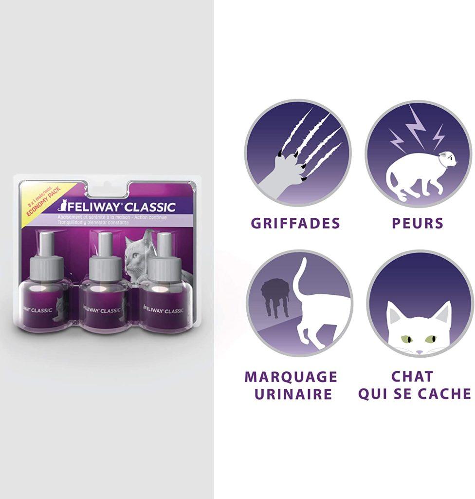 Calmer un chat énervé – phéromones